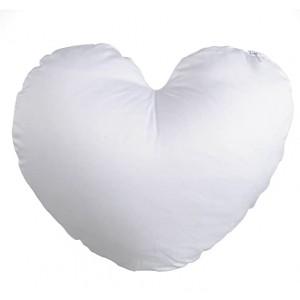 16*16 HEART WHITE SATIN PILLOW